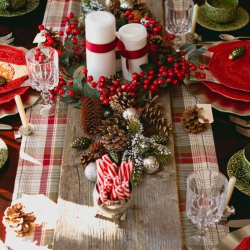 украшение стола на новый год