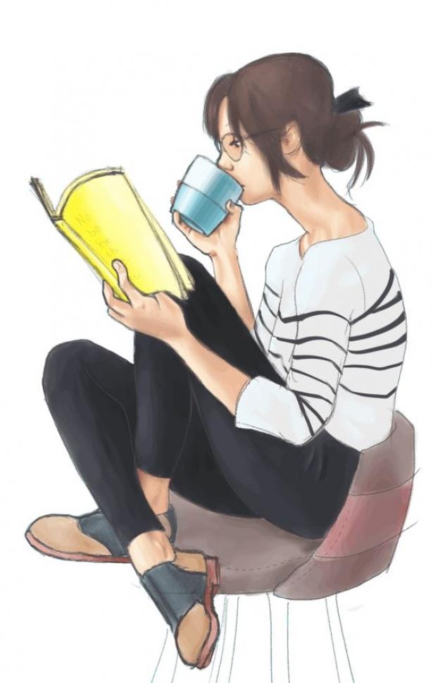 читающая девушка фото