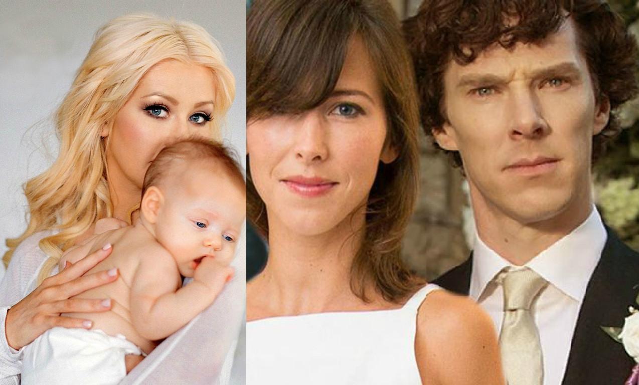 Чем радуют звездные семьи: Шерлок женился, Агилера показала дочь - фото №1
