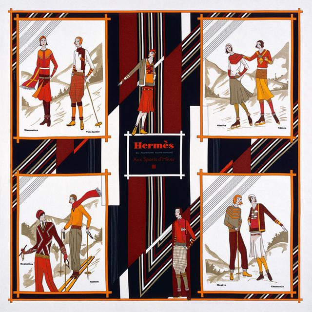 Пестрые платки Festive Red от Hermès - фото №2