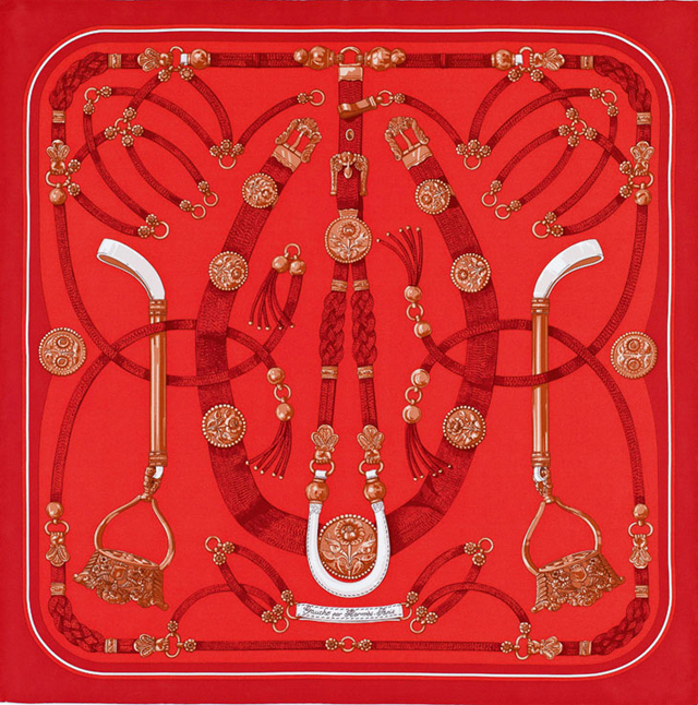 Пестрые платки Festive Red от Hermès - фото №4
