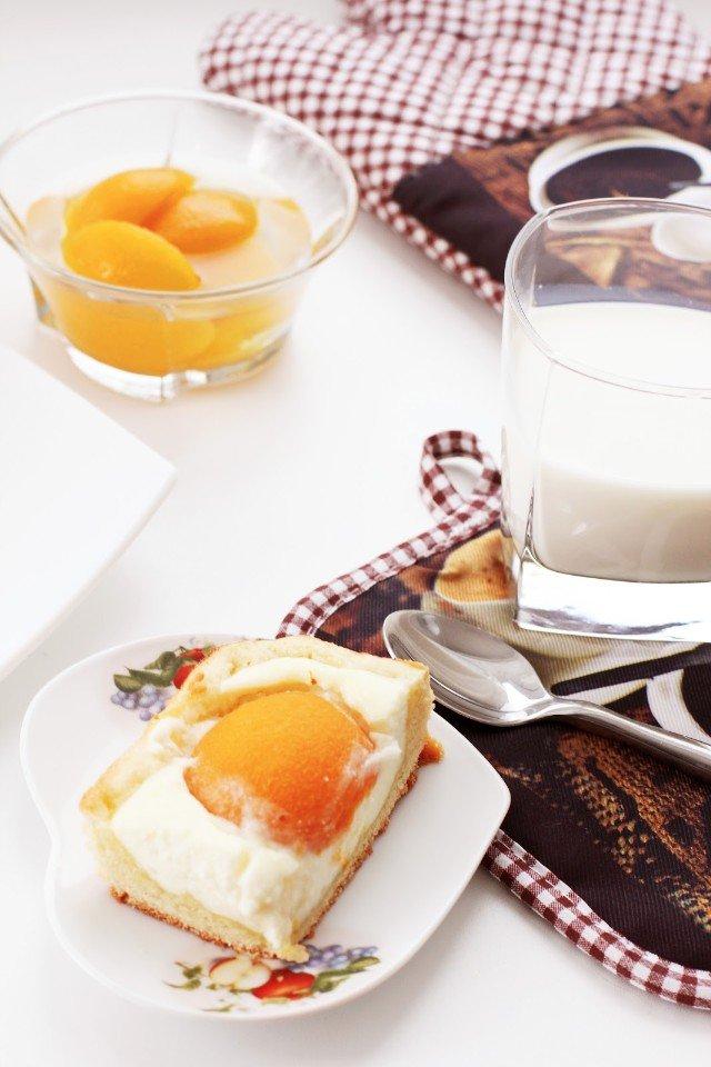Блюда с абрикосами. Творожный пиро
