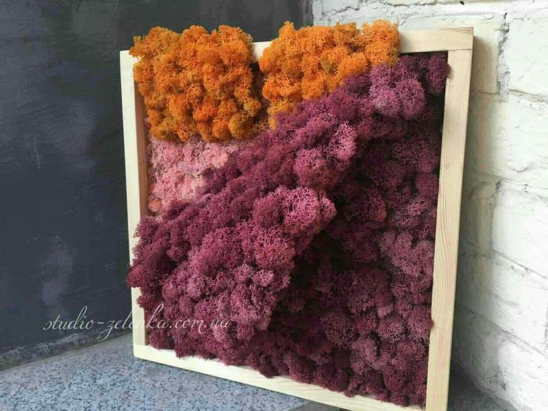 Эко-картина «Одеялко» из стабилизированного мха (ягель) от бренда Studio-Zelenka