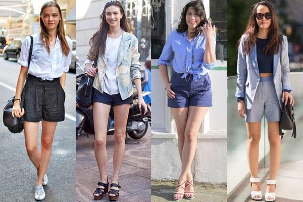 Оголяем ножки: модные шорты 2014 - фото №1