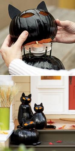 светильник на хэллоуин