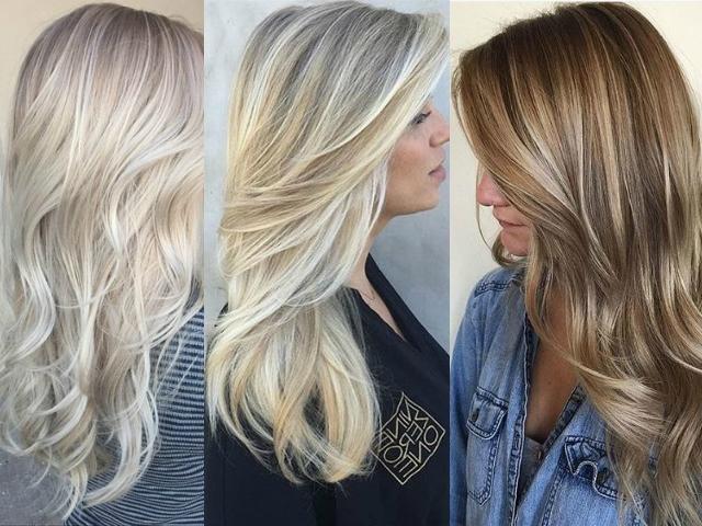 блонд окраска волос фото модная