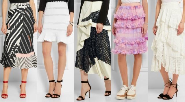 Самые модные юбки лета 2016: юбки с воланами, юбки-годе