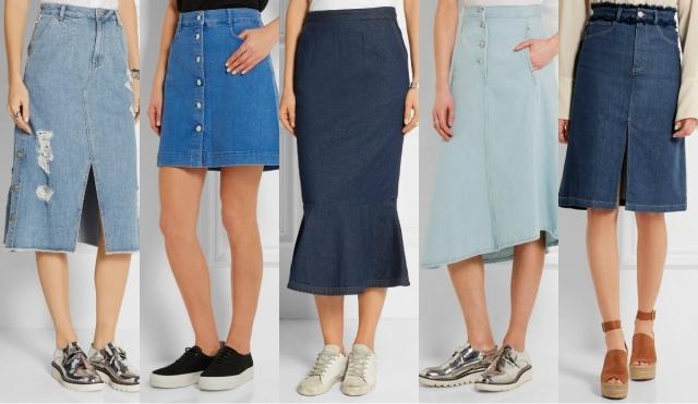 Самые модные юбки лета 2016: юбки из денима, джинсовые юбки