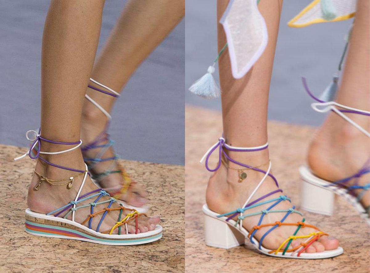 Вейся, веревочка: сандалии, босоножки и шлепанцы Chloe SS`16