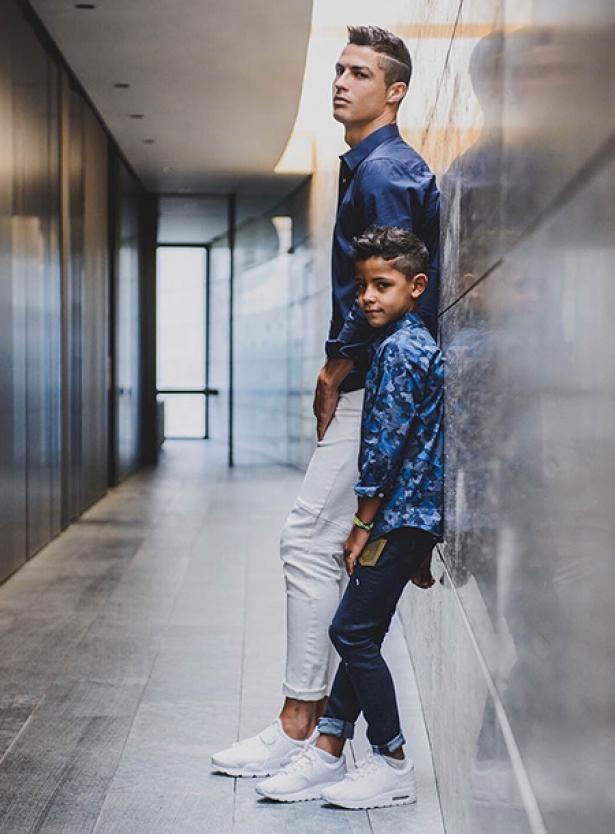 Криштиану Роналду с 7-летним сыном