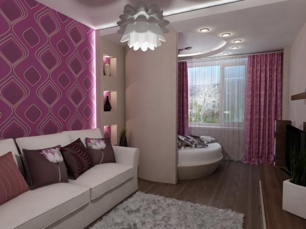 дизайн гостиной совмещенной со спальней фото
