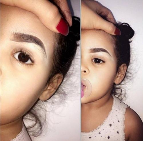 красить брови ребенку