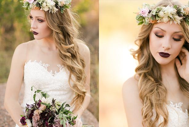 нестандартный свадебный макияж