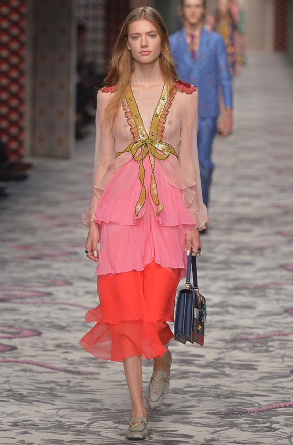 Неделя моды в Милане 2015 как носить рюши