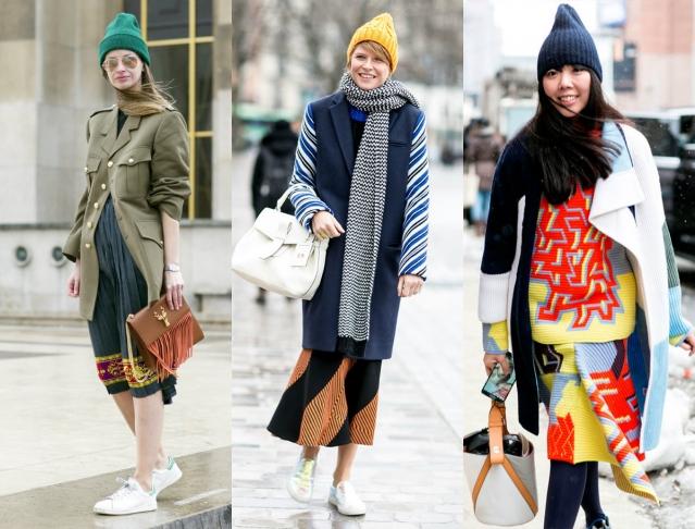 С чем носить шапку зимой
