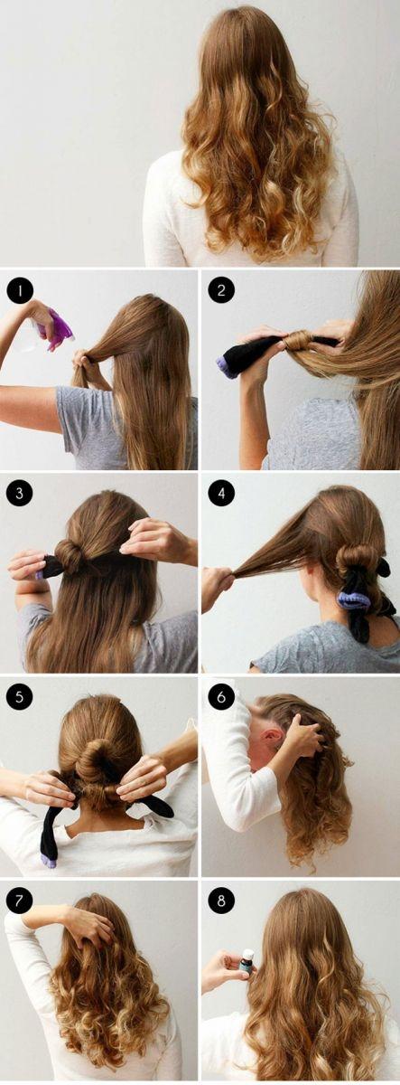 Как сделать волнистые волосы с помощью косичек 908