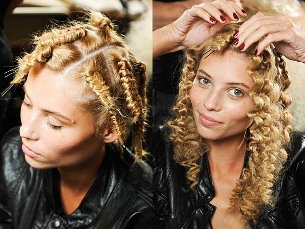 Как сделать волнистые волосы с помощью косичек 423