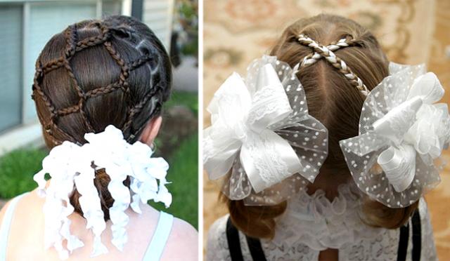 25 первоклассных идей прически в школу на 1 сентября: банты, косы с лентами на длинные и средние волосы (фото) - фото №10