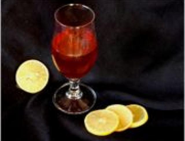 Коньяк с лимонным соком