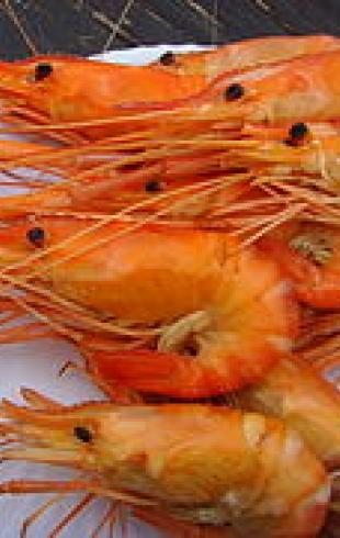 Креветки на филе (банкетное блюдо)