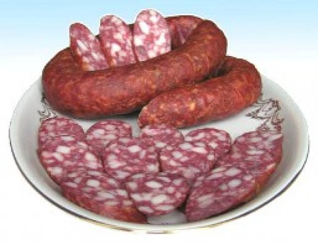 Колбаса краковская, домашняя