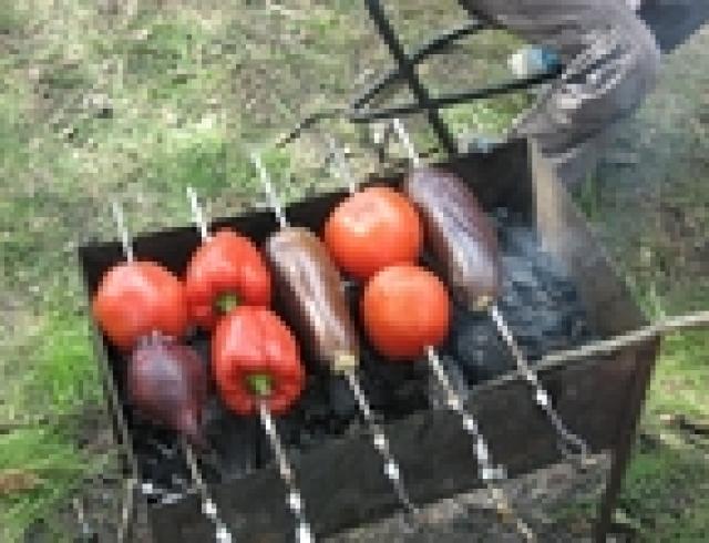Овощи на костре (блюдо пикника)