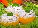Нежная закуска: фаршированные персики