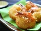 Кухня fusion: креветки в темпуре из кокосовой стружки