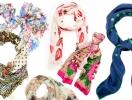 50 весенних шарфов, платков и косынок: тренды и варианты