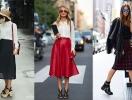 Юбка миди: 30 образов street-style
