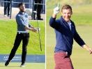 50 оттенков зеленого: актер Джейми Дорнан и футболист Андрей Шевченко играют в гольф