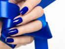 Как носить синий маникюр. Фотогалерея