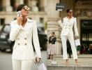 Street style: как девушки носят брючный костюм на Неделе высокой моды в Париже