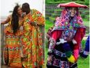 Как выглядят традиционные свадебные наряды по всему миру: огромные головные уборы и необычные узоры