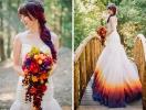 Как сделать свою свадьбу незабываемой: девушка полностью трансформировала обычное свадебное платье, разукрасив его подол