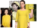 Лучший образ красной дорожки Золотого глобуса-2017: беременная Натали Портман в стиле Жаклин Кеннеди