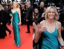 51-летняя Робин Райт покорила Каннский кинофестиваль-2017 откровенным платьем-комбинацией без белья (ФОТО)