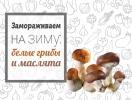 Замораживаем на зиму: белые грибы и маслята