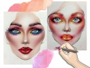 Не оторваться: визажисты рисуют на бумаге макияж, и это потрясающе красиво