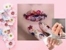 Дизайн маникюра на лето 2018: живые цветы на ногтях