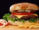 У космос за гамбургером
