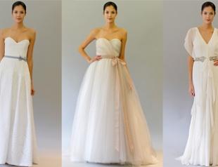 Свадебные платья Carolina Herrera осень 2012