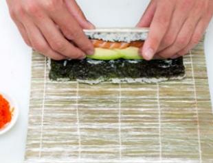 """Японская кухня: пошаговый рецепт ролла  """"Аляска"""""""