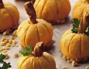 Оригинальная закуска: сырные тыквочки