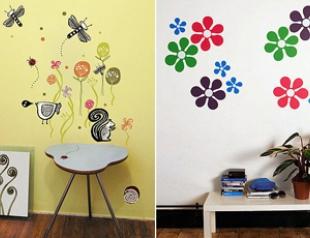 Декорируем детскую комнату наклейками на стену