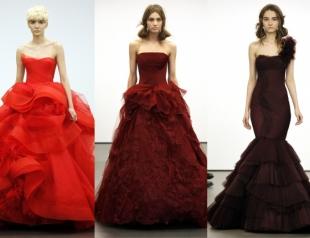 Вера Вонг создала красную свадебную коллекцию