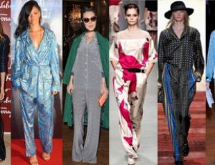 Тренд: пижама на выход