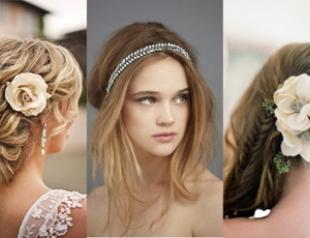 Лучшие свадебные прически лета 2012. Фото