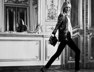 Аня Рубик в рекламной кампании Saint Laurent Paris