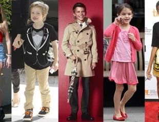 Самые стильные дети знаменитостей. Фото